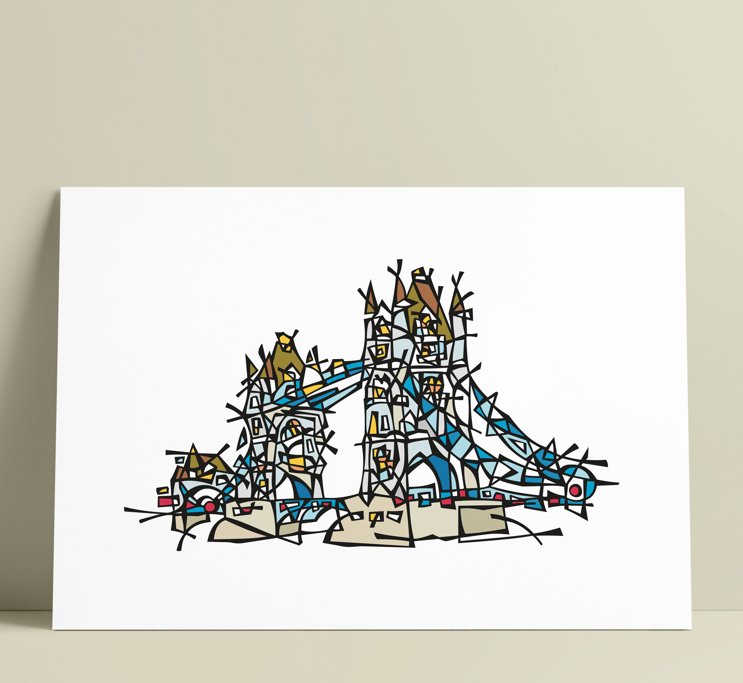 London Tower Bridge Illustration Art Wall Decoration