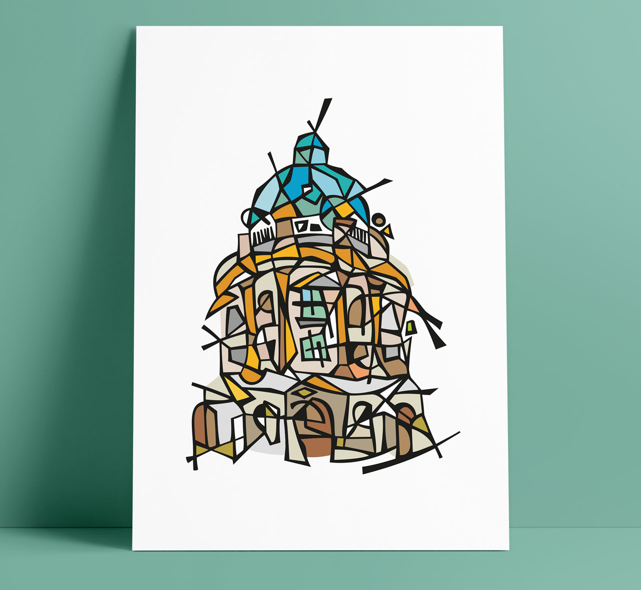 Oxford Radcliffe Camera Illustration Art Wall Decoration